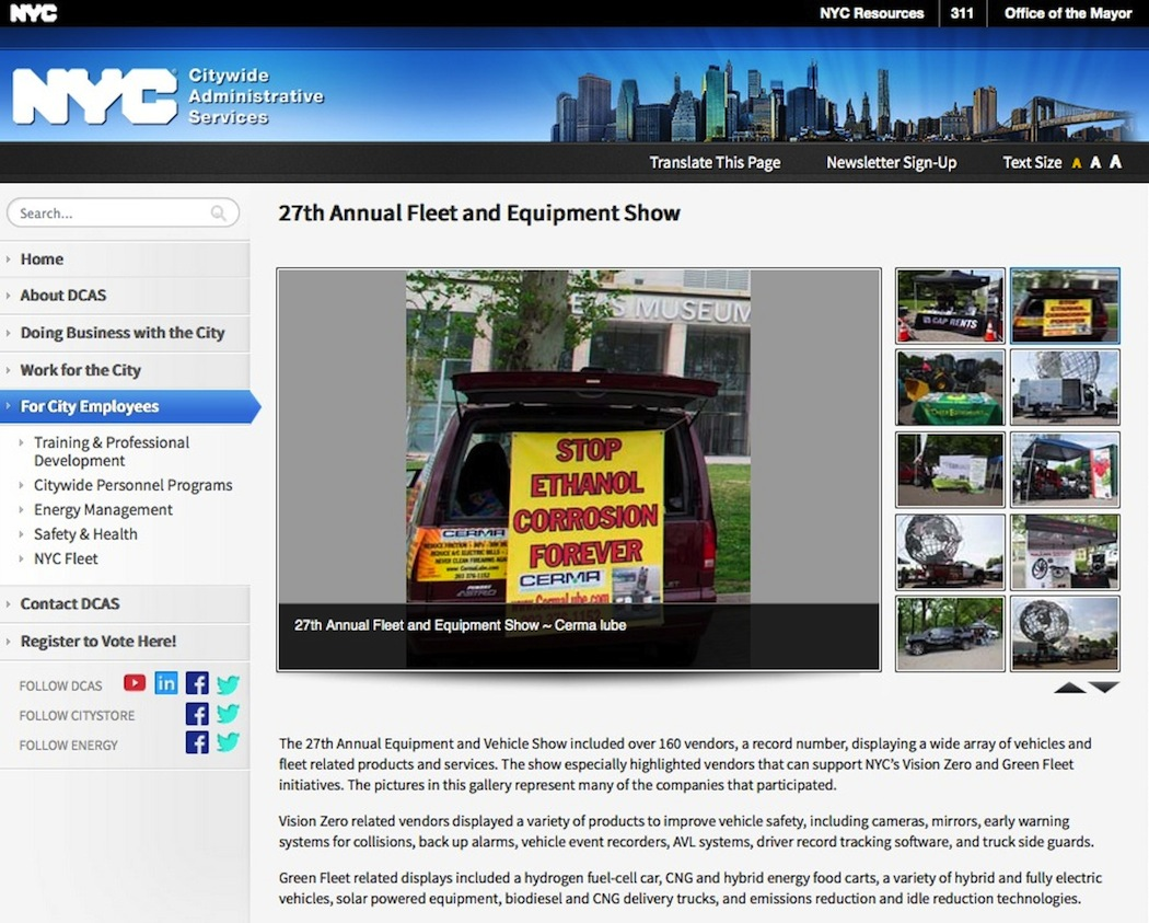 Cerma 27th Annual NYC Fleet