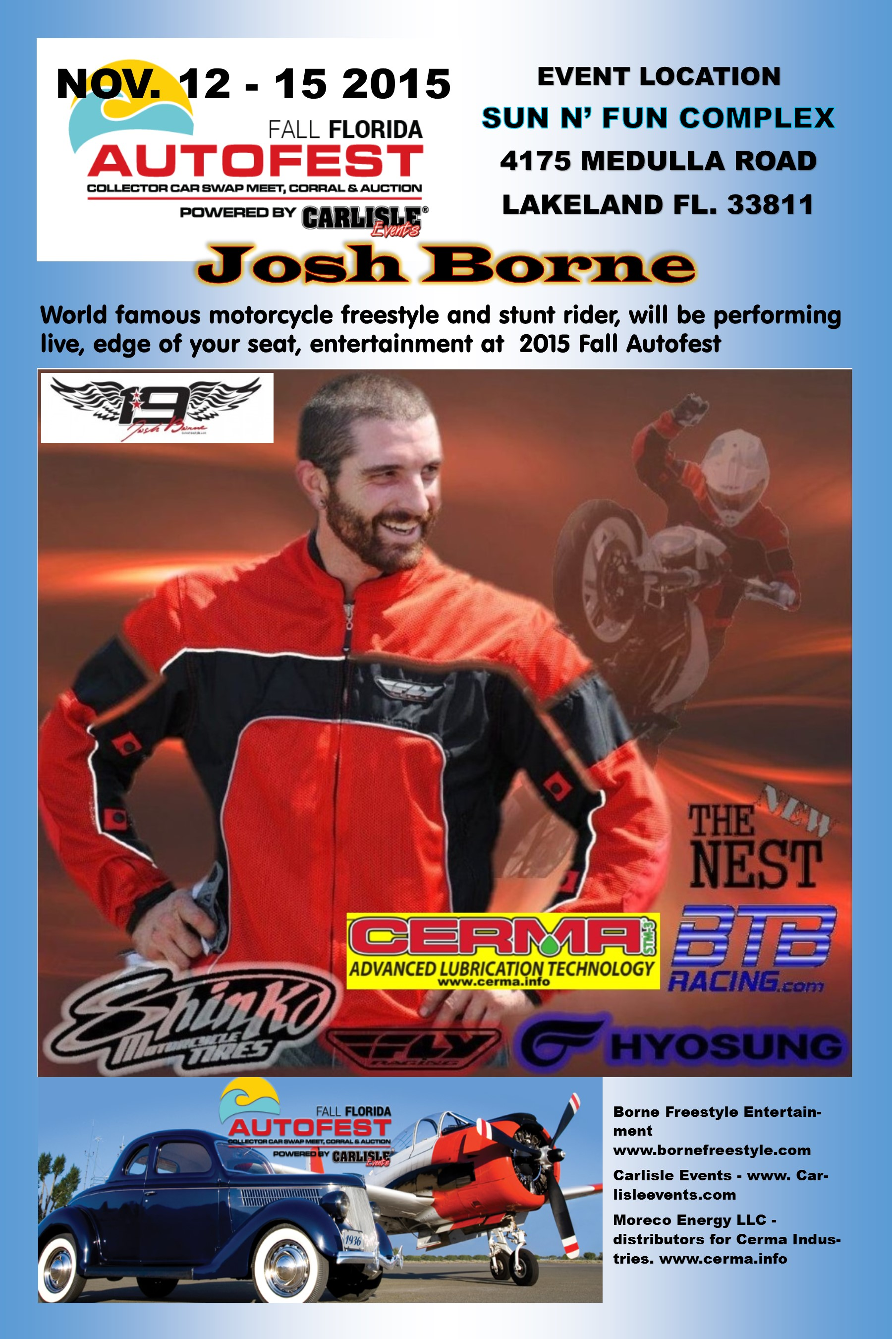 Cerma Attends Auto Fest with Josh Borne