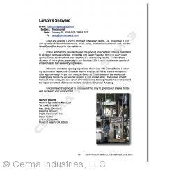 Testimonial - Larson's Shipyard