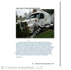 Testimonial - Volvo Semi-Truck (Series 60 Detroit Diesel)