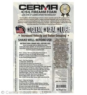 CSL Firearm Foam Label