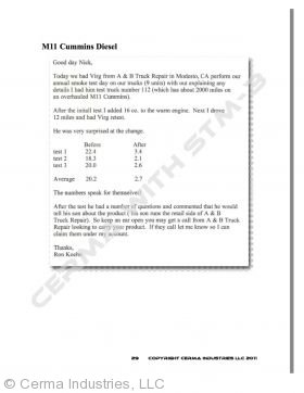 M11 Cummings Diesel Smoke Test