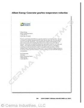 Testimonial - Alliant Energy Generator