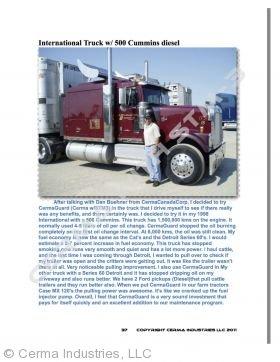 Testimonial - 500 Cummins Diesel