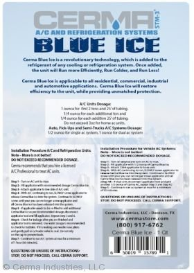Cerma Blue Ice Qt Label Back